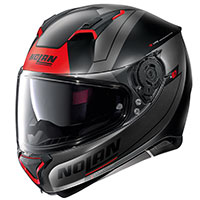 Nolan N87 Skilled N-com Red Grey Flat Black