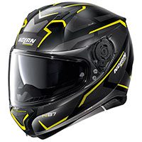 Nolan N87 Plus Overland N-com Yellow Flat Black