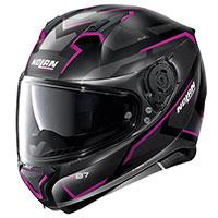 Nolan N87 Plus Overland N-com Pink Flat Black