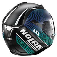 Nolan N87 Sioux N-com Blue Flat Black