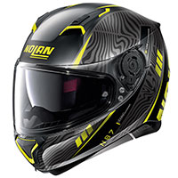 Nolan N87 Sioux N-com Yellow Flat Black