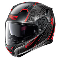 Nolan N87 Sioux N-com Red Flat Black