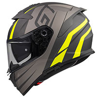 Premier Devil Gt Y Bm Helmet Grey Yellow