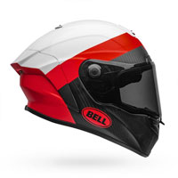 Casque Bell Race Star Flex Blanc Rouge