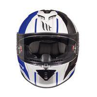 Mt Helmets Rapide Duel D5 Blanc Bleu