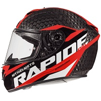 Mt Helmets Rapide Pro Carbon C5 Kid Black Red Kinder