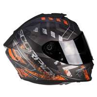 Scorpion Exo-1400 Air Picta Silver Opaco Arancio