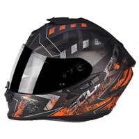 Scorpion Exo-1400 Air picta Matt Silber Orange - 3