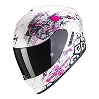 Casco Scorpion Exo 1400 Air Toa Bianco Rosa