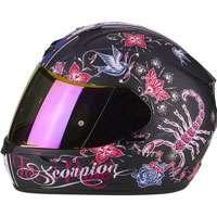 Scorpion Exo-390 Chica Matt Black Pink Lady