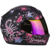 Scorpion Exo-390 Chica Nero Opaco Rosa - 4