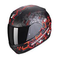 Casco Scorpion Exo 390 Cube Nero Opaco Rosso