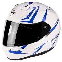 Scorpion Exo-390 Hawk Pearl White Blue