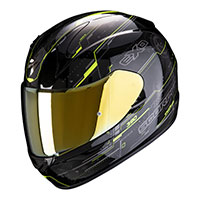 Casco Scorpion Exo 390 Beat Giallo Nero