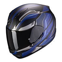 Casco Scorpion Exo 390 Boost Nero Opaco Blu