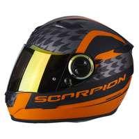 Scorpion Exo-490 Genesi Matt Black Orange