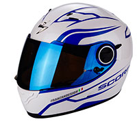 Casco Scorpion Exo 490 Luz Bianco Blu
