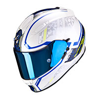 Casco Scorpion Exo-510 Air Occulta Blu Bianco