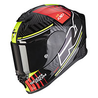 Casco Scorpion Exo R1 Air Victory Argento Rosso