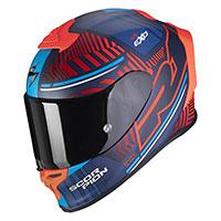Casco Scorpion Exo R1 Air Victory Blu Rosso
