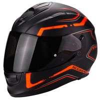 Scorpion Exo-510 Air Radium Nero Opaco-arancione