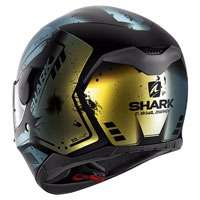 Shark D-skwal Dharkov Nero Opaco-verde