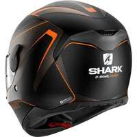 Shark D-skwal Rakken Nero Opaco Arancio