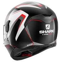 Shark D-skwal Rakken Nero-bianco-rosso