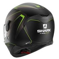Shark D-skwal Rakken Nero Opaco-verde