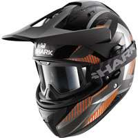 Shark Explore-r Peka Matt Black-anthracite-orange