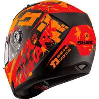 SHARK RIDILL KENGAL MATT BLACK-RED-ORANGE