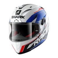 Shark Race-r Pro Sauer White-blue-red