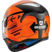 Shark Skwal Warhen Nero Opaco-arancio
