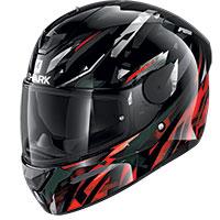 シャーク D-Skwal 2 カンジ ヘルメット ブラックレッド