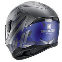 Casco Shark D-skwal 2 Kanhji Mat Antracite Blu
