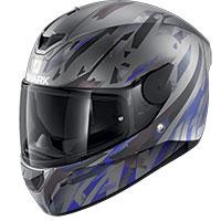 シャーク D-Skwal 2 カンジ マット ヘルメット 無煙炭ブルー