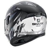 サメ D-Skwal 2 カンジ マット ヘルメット ブラックホワイト