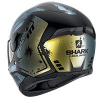 Shark D-skwal 2 Dharkov Mat Helmet Green Glitter