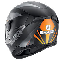 Shark D-skwal 2 Mercurium Mat Helmet Black Orange