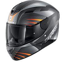 シャーク D-Skwal 2 メルキュリウム マット ヘルメット ブラック オレンジ