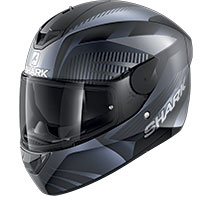 Casco Shark D-skwal 2 Mercurium Mat Nero