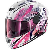 Shark D-skwal 2 Shigan Helmet White Violet Glitter