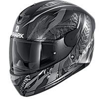 シャーク D-Skwal 2 シガン マット ヘルメット ブラックシルバー