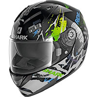 Casco Shark Ridill 1.2 Drift R Nero Verde Blu
