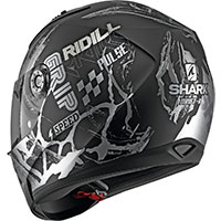 Casco Shark Ridill 1.2 Drift R Mat Nero Argento