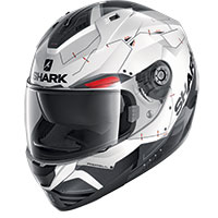 Shark Ridill 1.2 Mecca Helmet White Red