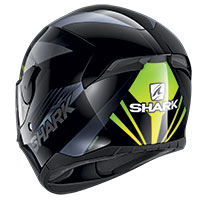 Casco Shark D-skwal 2 Mercurium Nero Verde