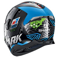 Casco Shark Skwal 2.2 Noxxys Nero Blu Verde