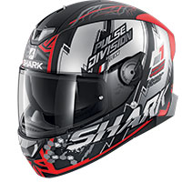 Casco Shark Skwal 2.2 Noxxys Mat Nero Rosso