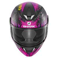 Shark Skwal 2 Switch Rider Nero Opaco Fuxia Donna